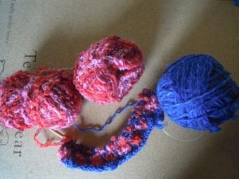 ループ毛糸と210106