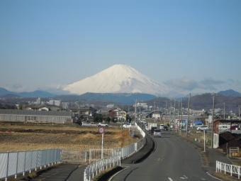 朝富士山210125