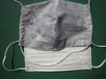 桜柄のマスク210316