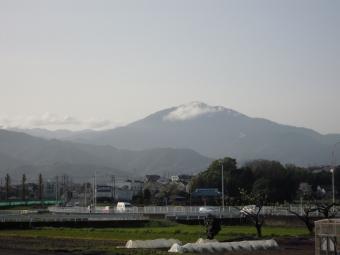 大山方面の雲が晴れていた210329