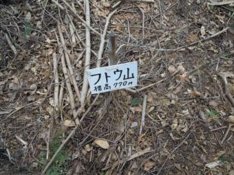 フトウ山770m210404