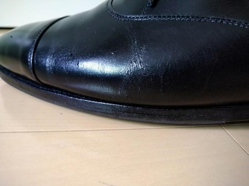 革靴ひび割れクロケットアンドジョーンズコノート4