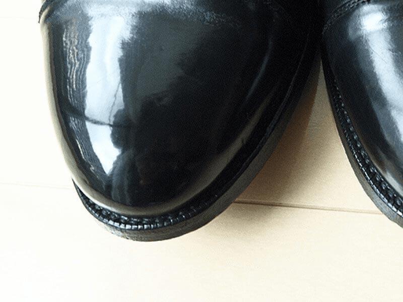 ダイソー靴磨き_鏡面磨き