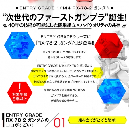 ENTRY GRADE 1:144 RX-78-2 ガンダム1