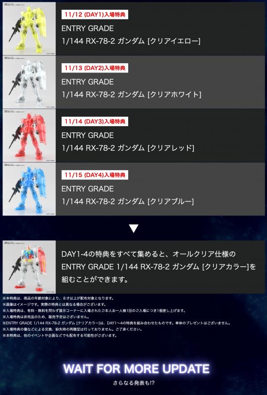 「GUNPLA EXPO TOKYO 2020 feat. GUNDAM conference」入場特典