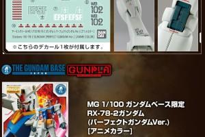 MG 1_100 ガンダムベース限定 RX-78-2ガンダム (パーフェクトガンダムVer.)[アニメカラー]のキット解説画像t