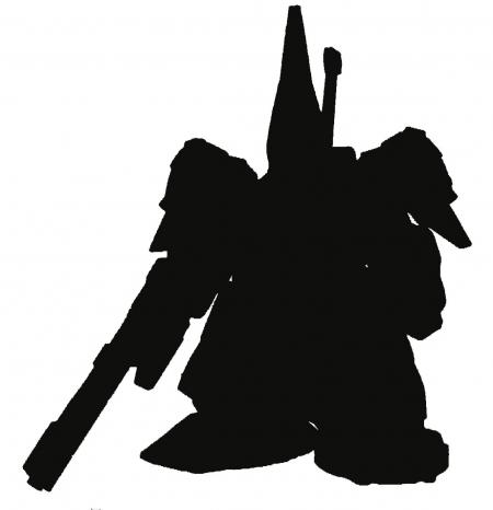 FW GUNDAM CONVERGE ♯Plus02で収録予定の1体のシルエットその2( ジ・O