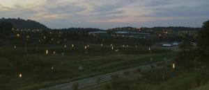 世羅 防蛾灯の夜景スナップ