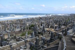 琴浦町 花見潟墓地