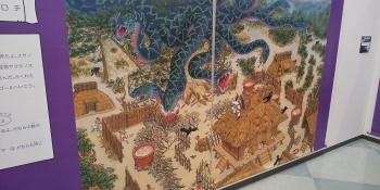香川元太郎の世界展 立体迷路内 迷路絵「ヤマタノオロチ」