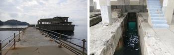 右; 酸素魚雷試験発射口