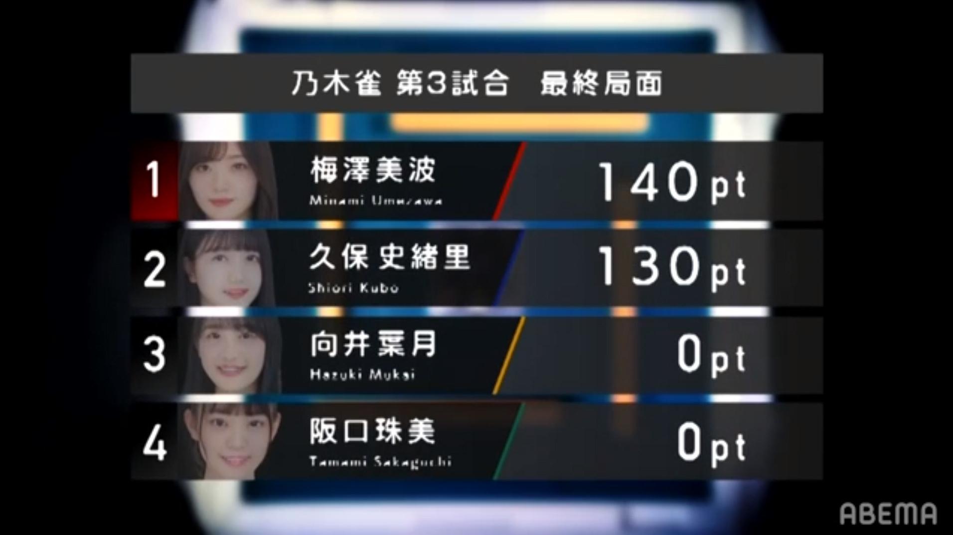 乃木坂46時間TV 乃木雀 3期生