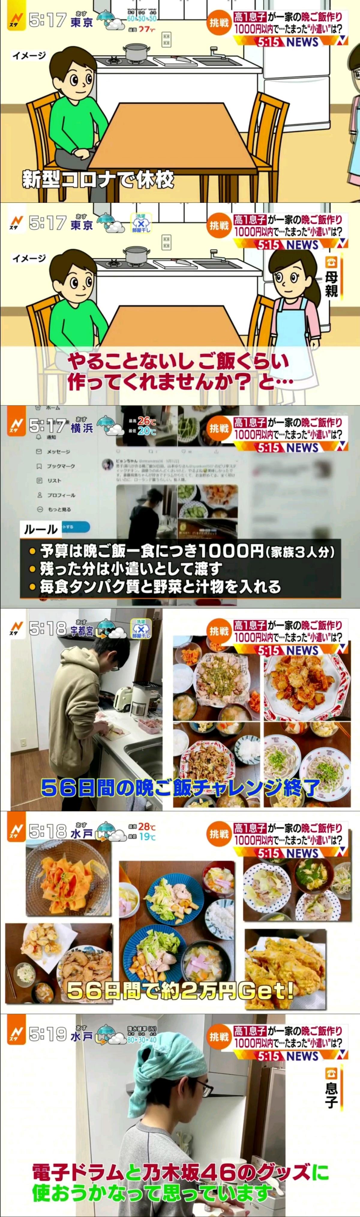 予算は1日千円。残った分は、小遣いとして渡す」で話題の高1息子 乃木オタ