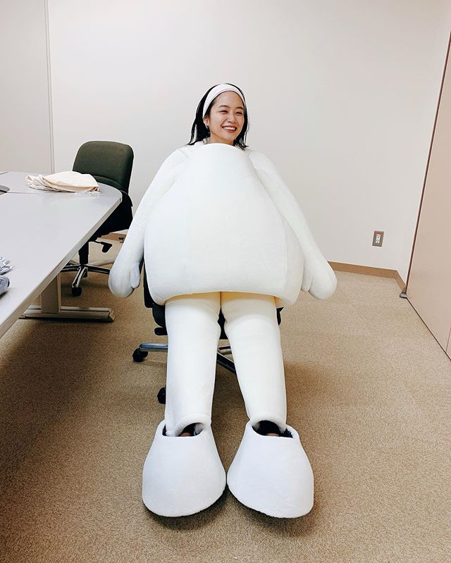深川麻衣 マイナちゃんの着ぐるみ