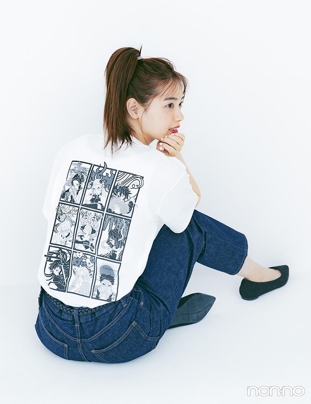 西野七瀬が着るユニクロUT×『鬼滅の刃』コラボTシャツ4