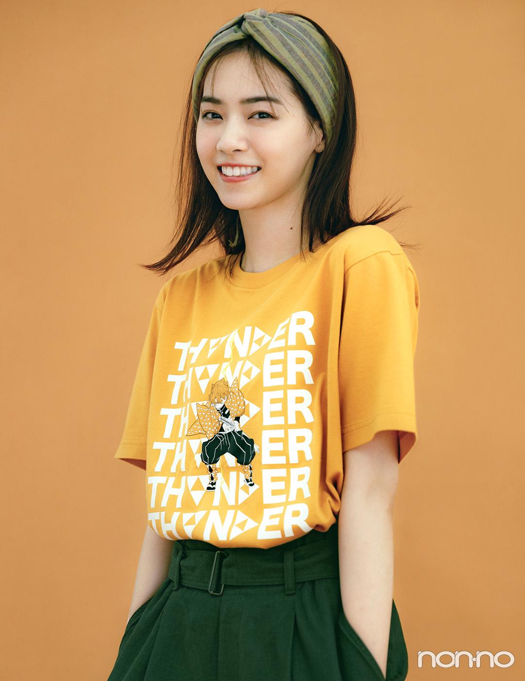 西野七瀬が着るユニクロUT×『鬼滅の刃』コラボTシャツ6