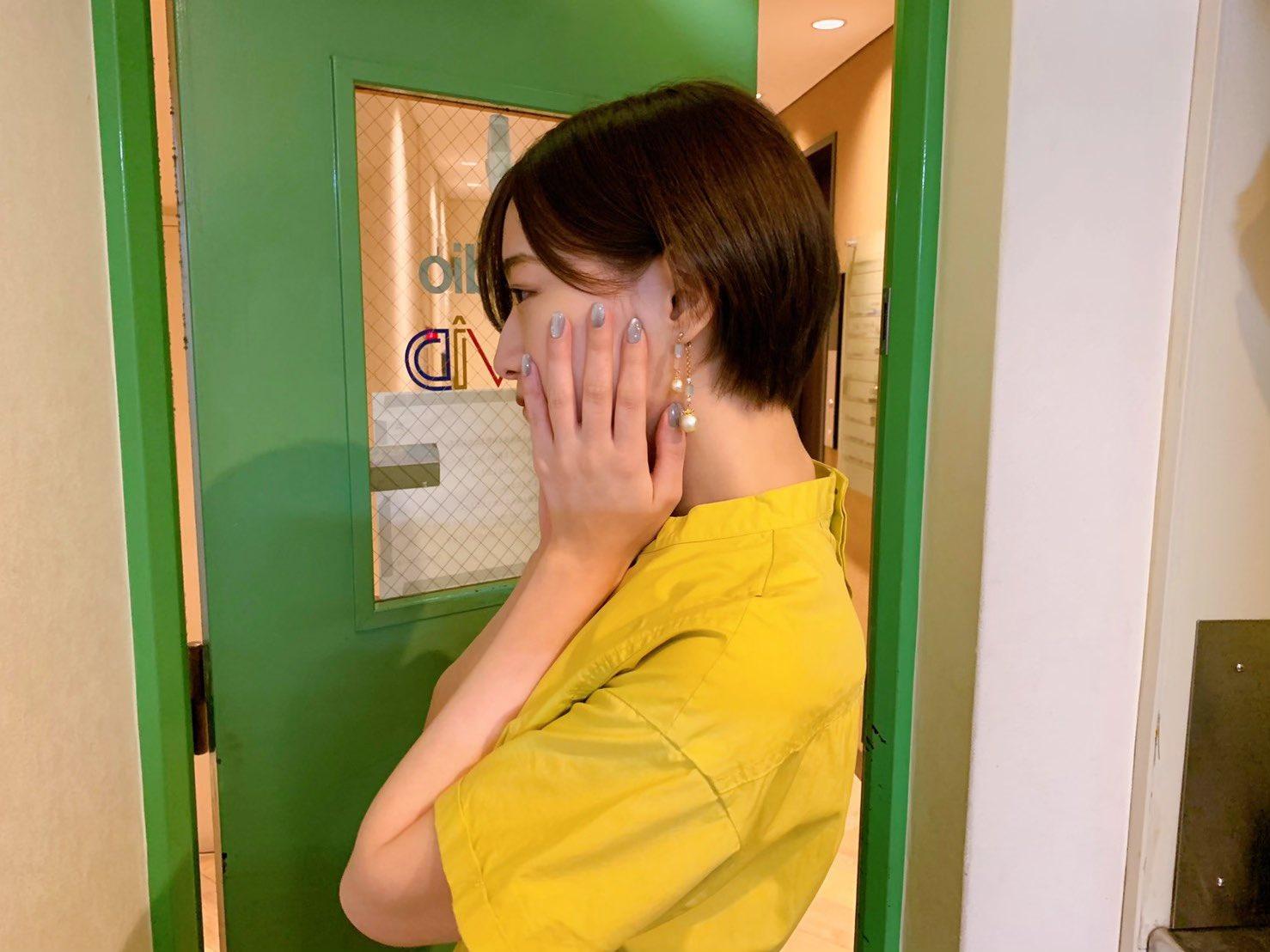 中田花奈「髪の毛切りましたー!」