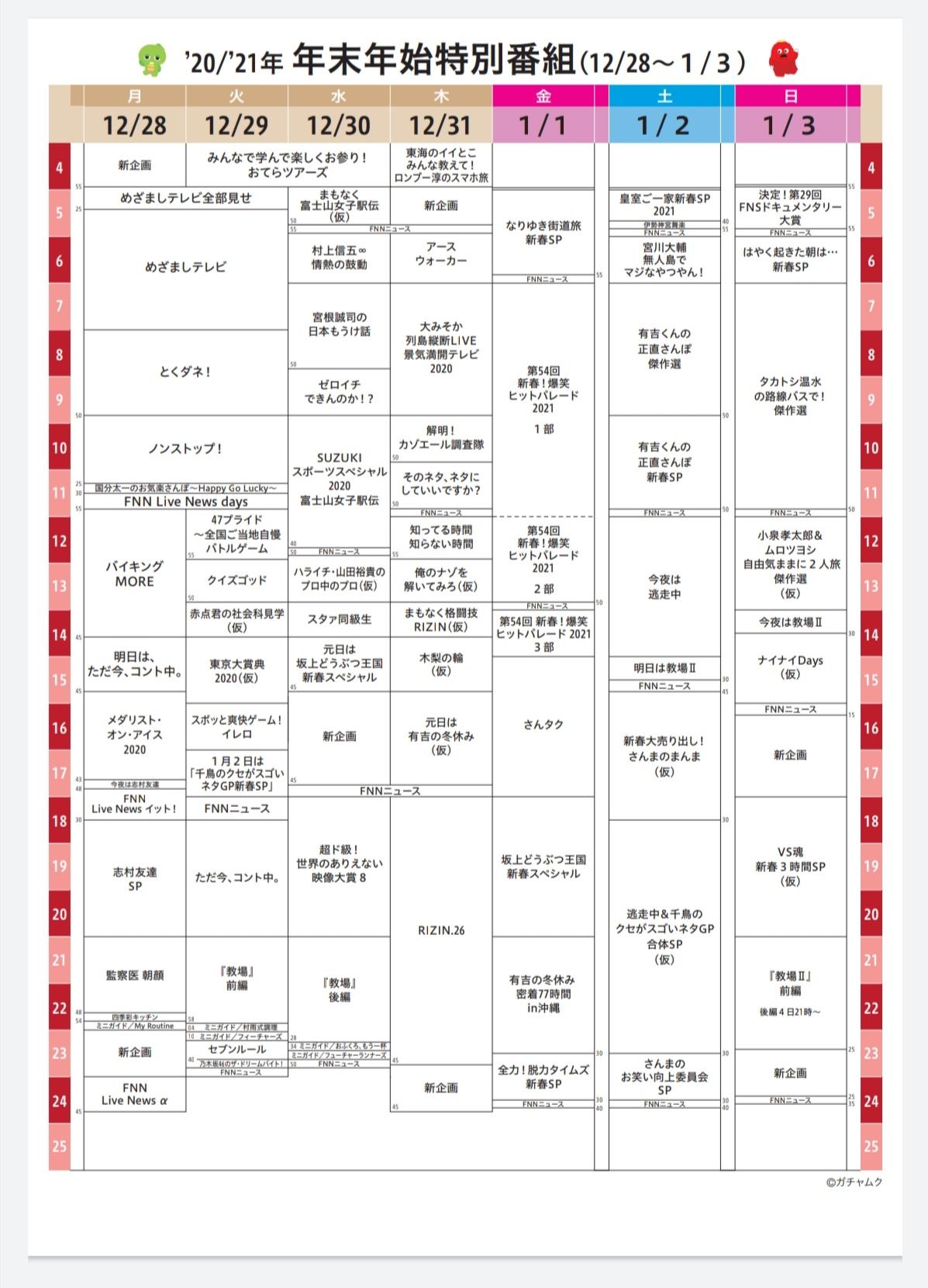 「乃木坂工事中」 1月3日は放送なし
