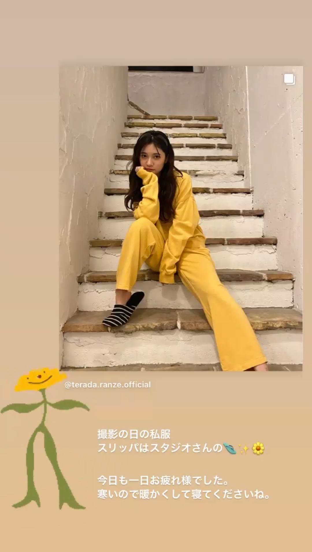 寺田蘭世の私服が上下黄色