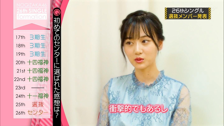 乃木坂46 26thシングル選抜 センター 山下美月