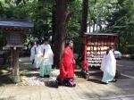 はらえどで修祓後、鹽竈神社へ参進