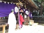 祭儀、文墨祭特別三賞表彰式後、宮司挨拶