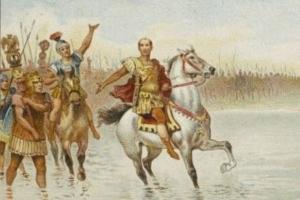 ルビコン川を渡る