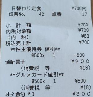 チムニー はなの舞 日替わり定食(親子丼)04 202003