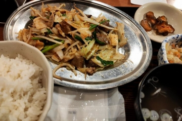 カッパクリエイト ぎんぶた 豚ホル野菜炒め定食01 2008 201909