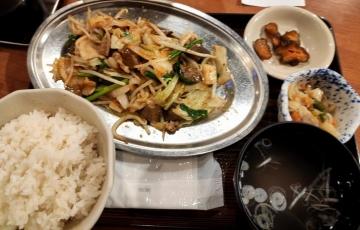 カッパクリエイト ぎんぶた 豚ホル野菜炒め定食02 2008 201909