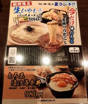 カッパクリエイト 北海道 生ひやむぎと彩り野菜の天ぷら05 2008 201909