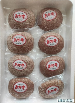 長瀬産業 熊本県 あか牛ハンバーグ8個 01 202003