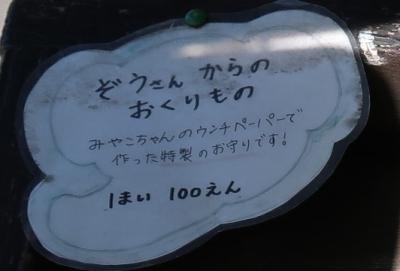 宇都宮動物園 ゾウさんからの贈り物