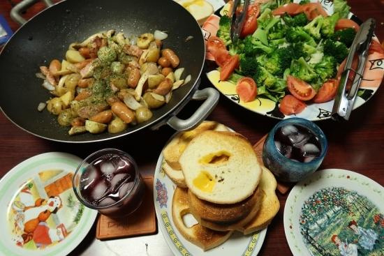 サラダ、チーズロード、ジャーマンポテト