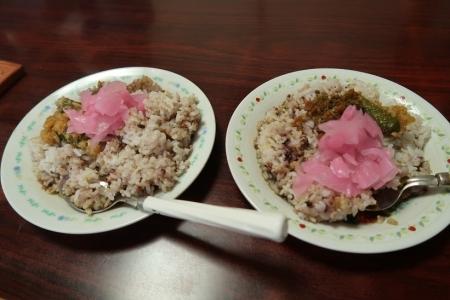 カレイの煮つけ汁ご飯