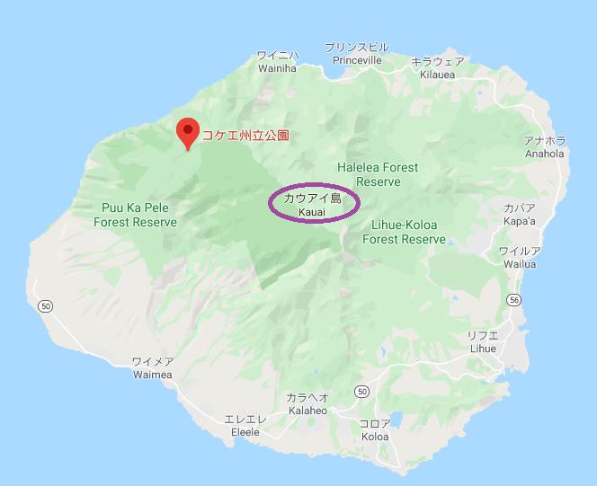 kauai島地図