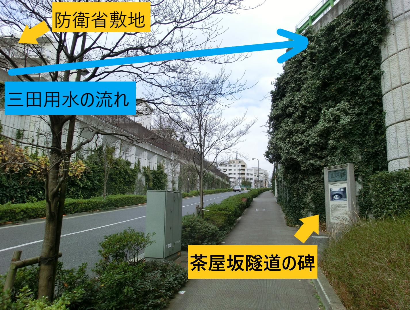 茶屋坂隧道 現在の様子 中目黒→恵比寿散策2