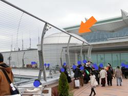 円形の屋根 羽田空港プラネタリウムカフェ