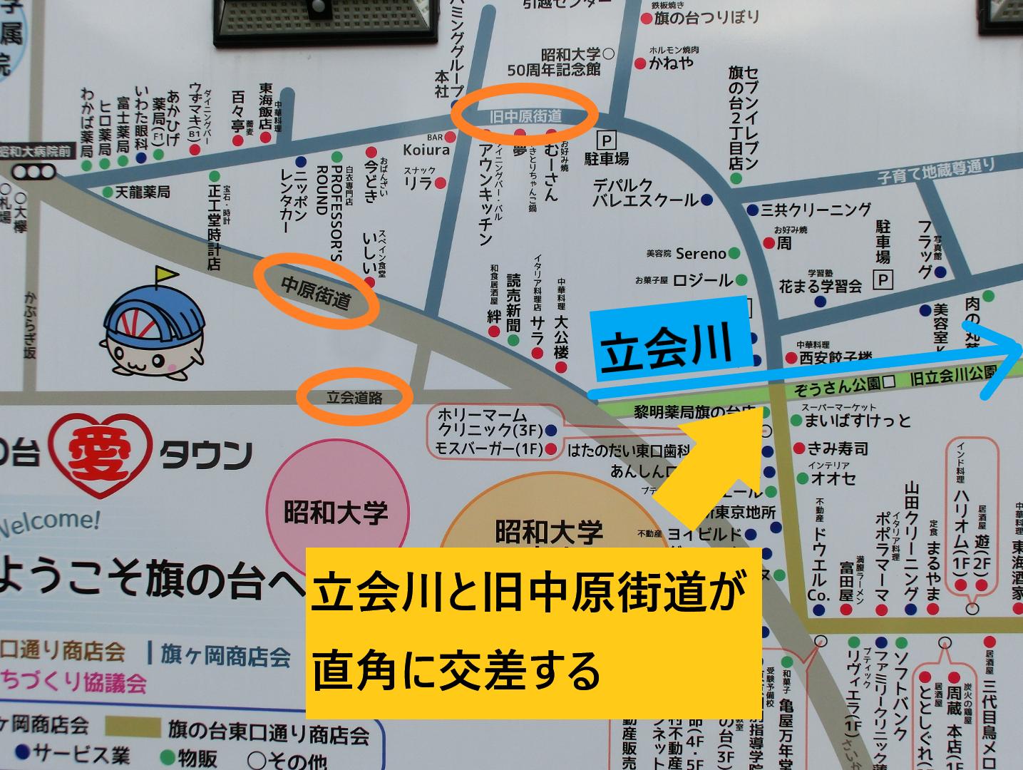 立会川と旧中原街道が直角に交差する 西小山→荏原町散策2