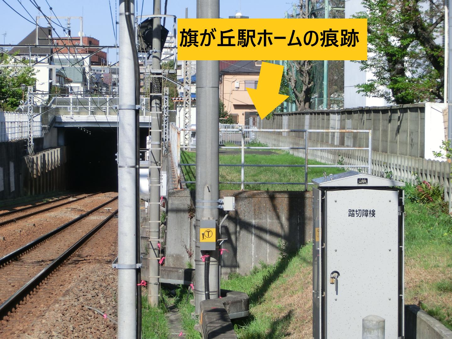 旗が丘駅ホームの痕跡 西小山→荏原町散策2