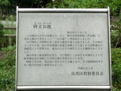 碑文谷公園 説明版 碑文谷・柿の木坂散策4