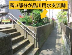 高い部分が品川用水支流跡 西小山→荏原町散策4
