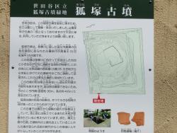 狐塚古墳 説明版 尾山台・等々力散策2