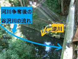 河川争奪後の谷沢川の流れ 尾山台・等々力散策3
