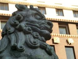 獅子像 吽形 橋梁としての日本橋2