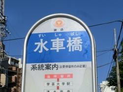 水車橋 バス停 碑文谷・柿の木坂・野沢散策6