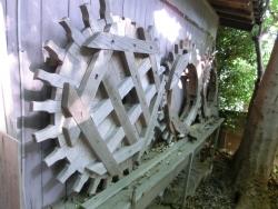 水車橋 野沢水車 木製の歯車 碑文谷・柿の木坂・野沢散策6CIMG8756