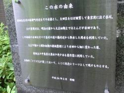 呑川の源流説明版2 桜新町・深沢散策2
