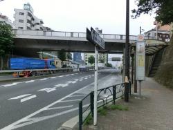 環七から新馬込橋を見る 臼田坂散策1