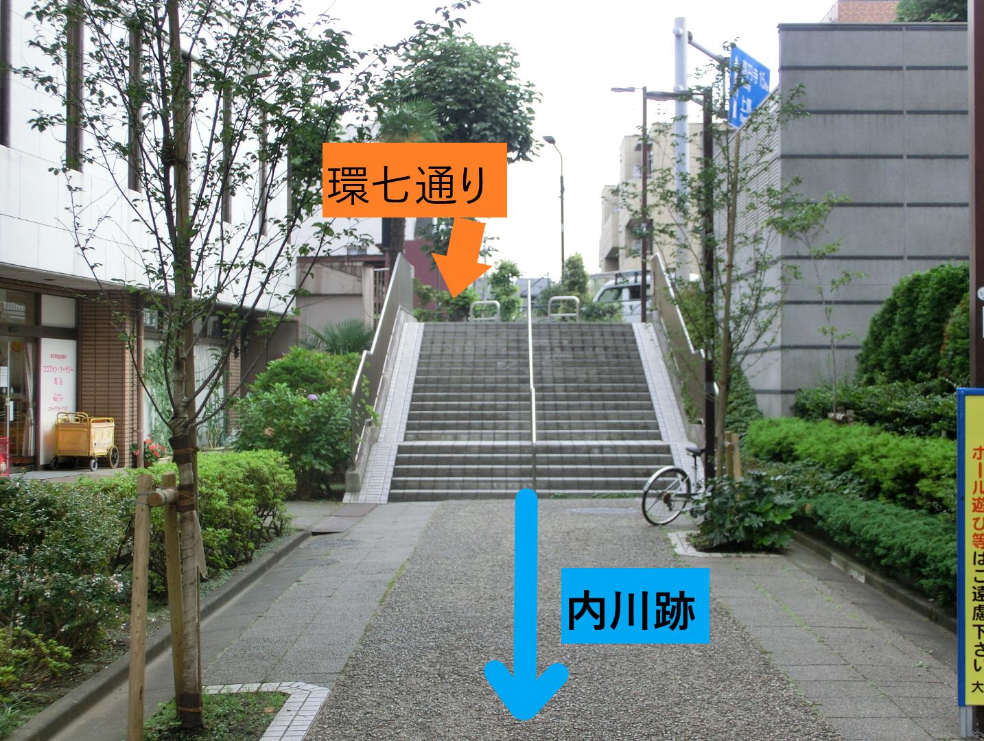 内川跡2 臼田坂散策1